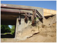 Undermining of Bridge Abutment